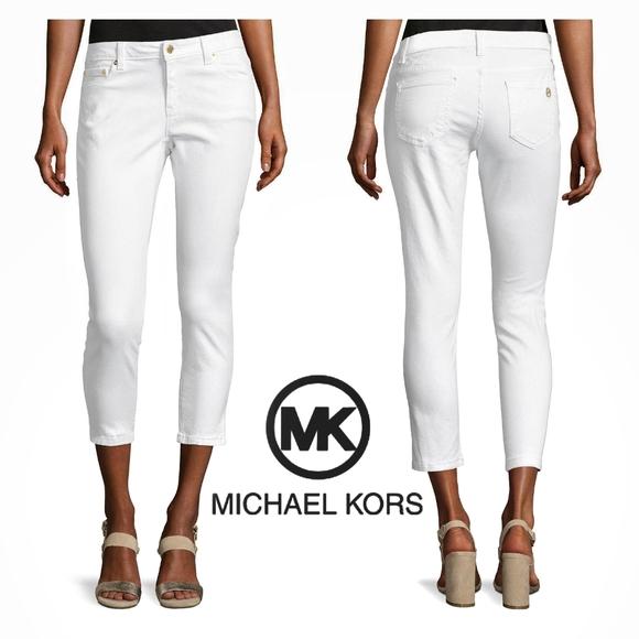 Michael Kors Denim - Michael Kors | White Cropped Denim Capris | 12